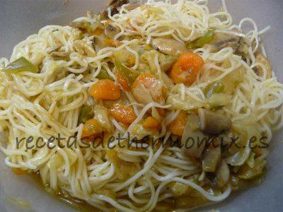Chop suey de verduras con salsa de soja de Thermomix