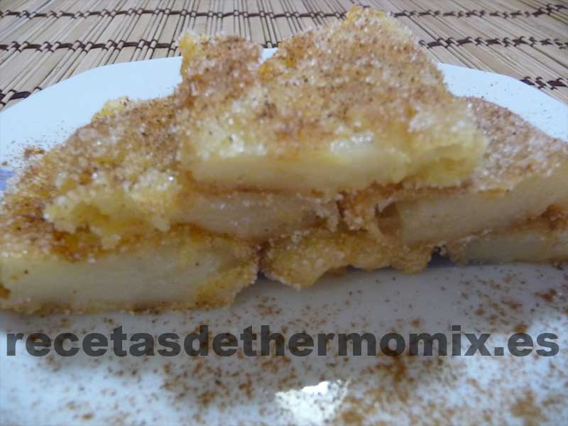 Leche frita en thermomix for Postres faciles thermomix