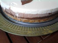 Detalle receta tarta tres chocolates thermomix