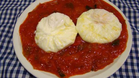 Recetas de pisto con huevos poche para Thermomix