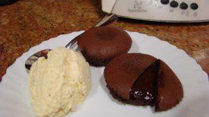 Receta de volcán de chocolate para Thermomix