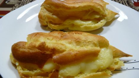 Recetas de pasta choux rellena de crema para Thermomix