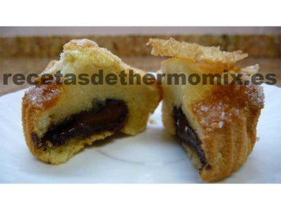 Muffins con corazón de chocolate de Thermomix