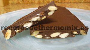 Recetas de Turrón de chocolate con almendras para Thermomix