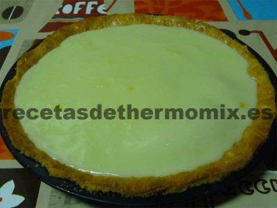 Preparación de tarta de limón con la Thermomix.