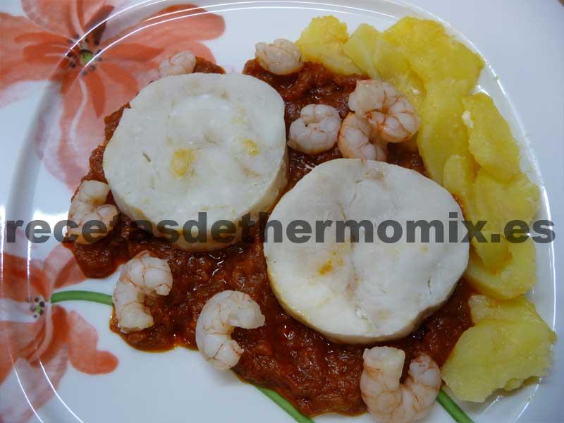 Receta de merluza con salsa de tomate para Thermomix