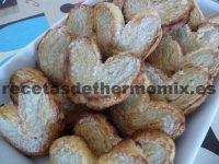 Receta de palmeritas de hojaldre con Thermomix