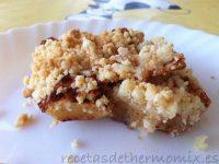 Receta de crumble de manzana con Thermomix