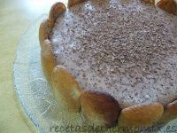 Tarta mousse de chocolate de Thermomix