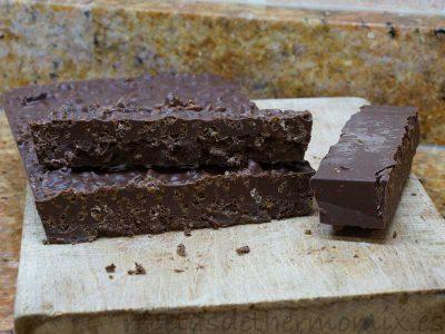 Turrón crujiente de chocolate de Thermomix