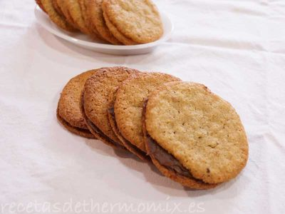 Galletas de avena con chocolate en Thermomix