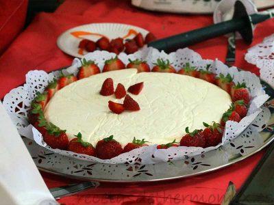 Preparar una tarta de nata y fresas con Thermomix