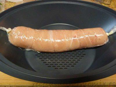 Pechugas de pollo rellenas de sobrasada con Thermomix