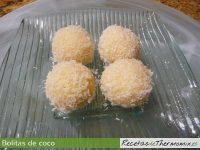 Bolitas de coco de Thermomix