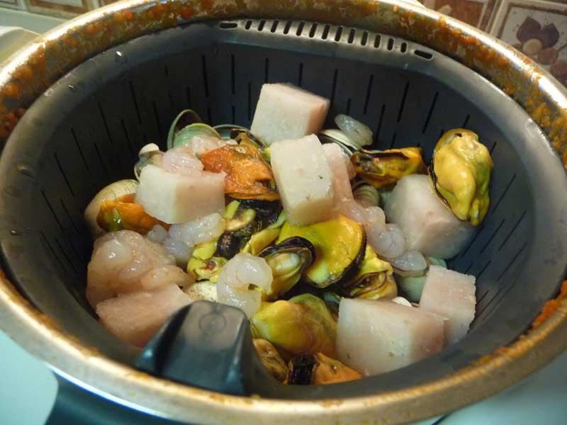 Preparar sopa de pescado rápida thermomix