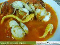 Sopa de pescado rápida de Thermomix