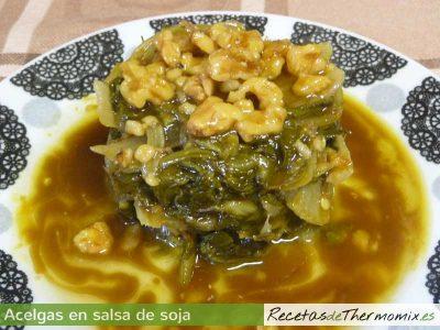 Acelgas en salsa de soja