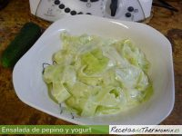 Ensalada de pepino y yogurt Thermomix
