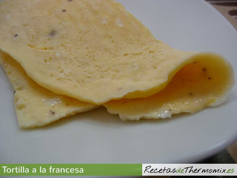 Tortilla a la francesa Thermomix