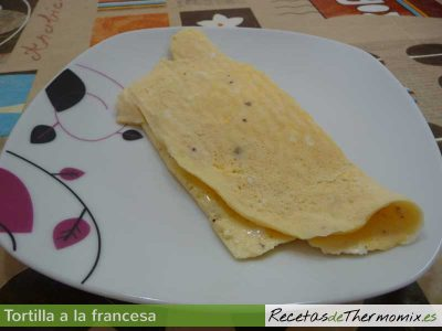 Tortilla a la francesa en Thermomix