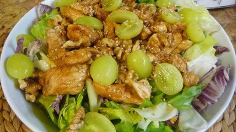Ensalada templada de pollo en Thermomix