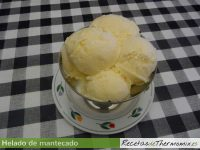 Helado mantecado con Thermomix