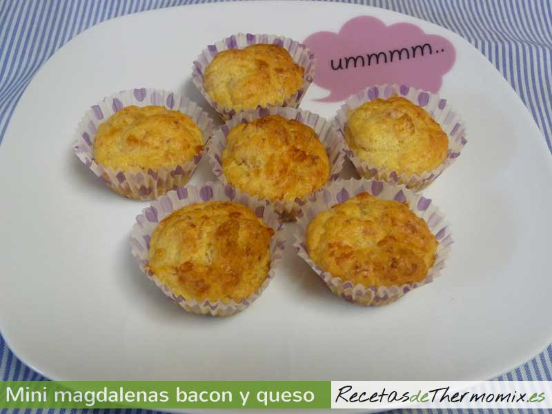 Mini magdalenas de bacon y queso Thermomix