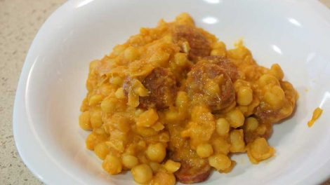 Garbanzos con chorizo Thermomix