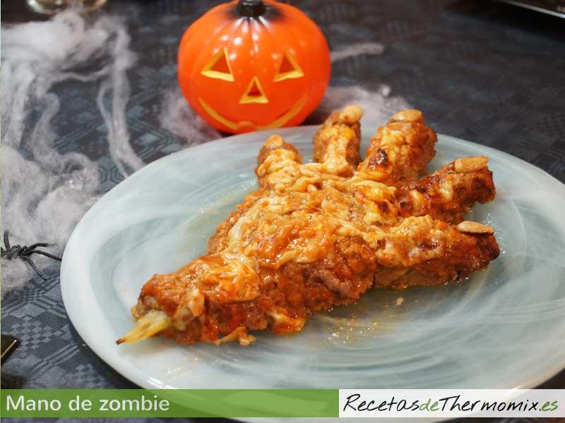 Receta Halloween mano de zombie Thermomix