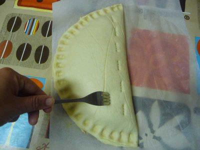 Como preparar pizza calzone de atun Thermomix