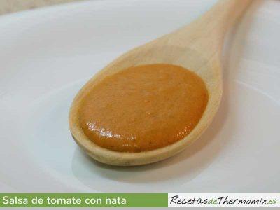 Salsa de tomate con nata Thermomix