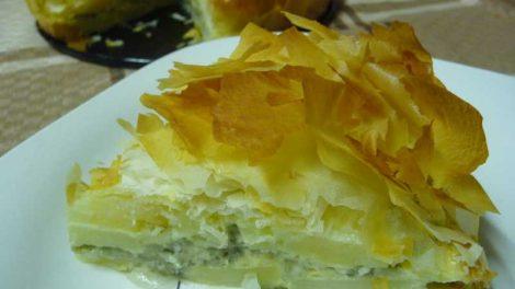Pastel de patata y queso azul Thermomix