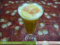Sorbete de mandarina de Thermomix