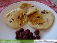 Tortitas con frutos rojos de Thermomix