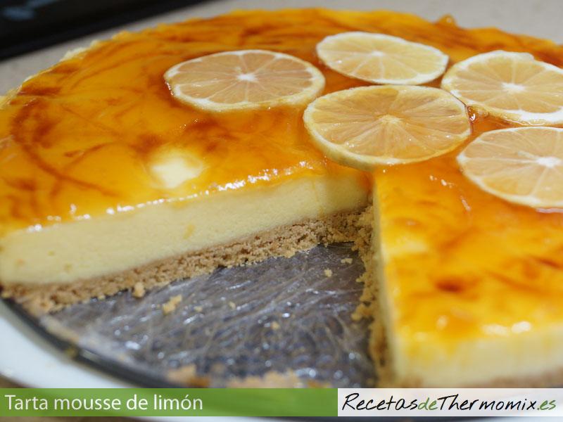 Capas de la tarta mousse de limón con Thermomix