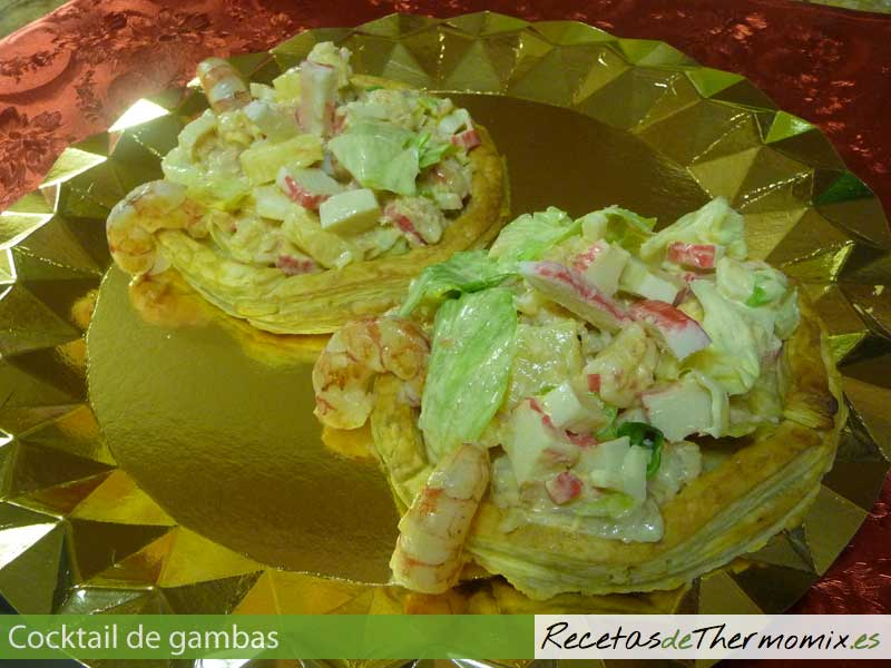 Cocktail de gambas con Thermomix
