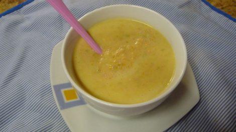 Crema de verduras con jamon de york en thermomix