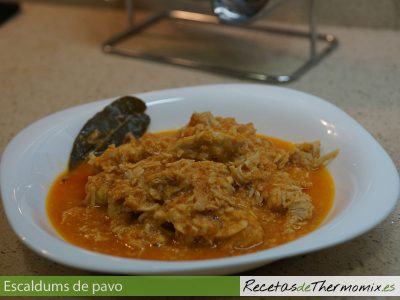Escaldums de pavo de Thermomix