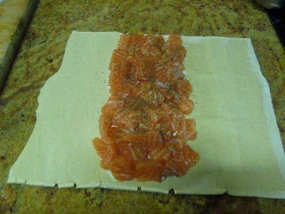 Como preparar salmon en hojaldre Thermomix