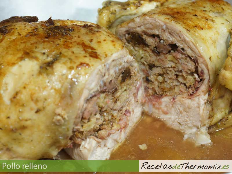 Pollo relleno Thermomix