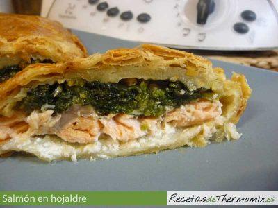 Relleno de salmón y espinacas en hojaldre Thermomix