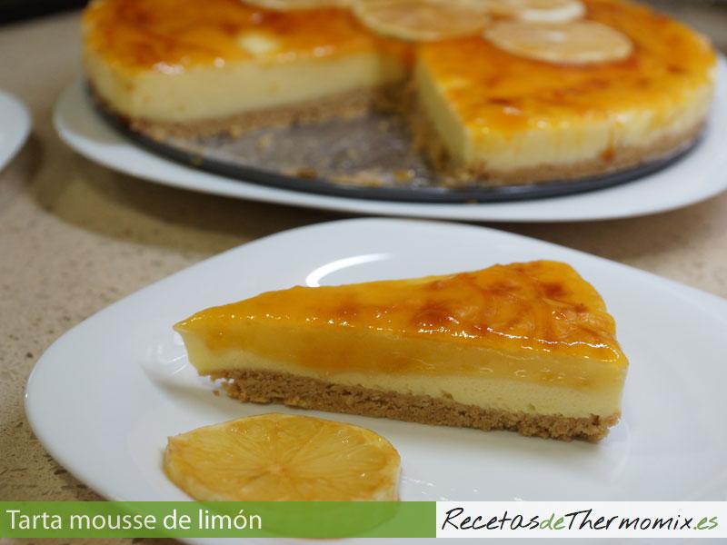 Tarta mousse de limón con Thermomix