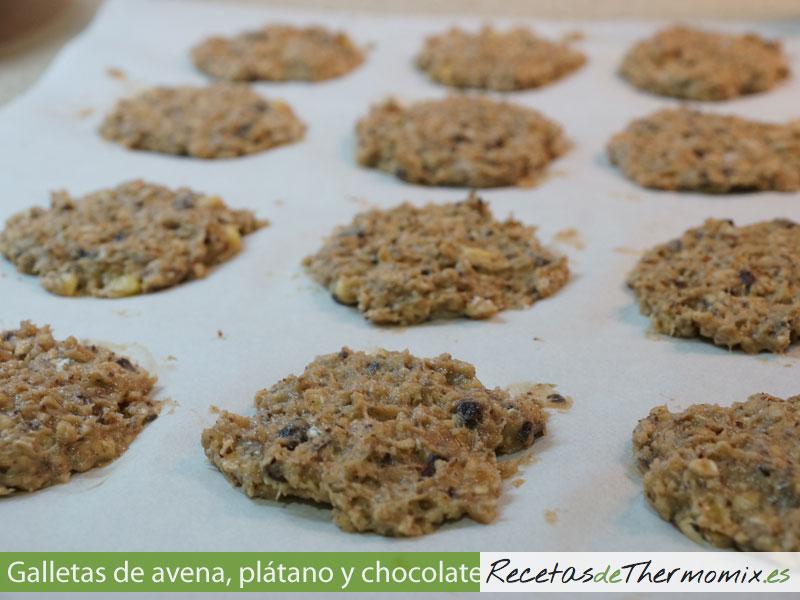 Como hacer galletas de avena, plátano y chocolate con Thermomix