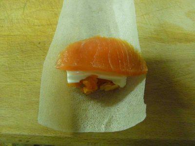 Como hacer rollitos crujientes de salmon thermomix