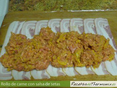 Como hacer un rollo de carne con salsa de setas Thermomix