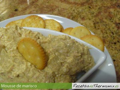 Mousse de marisco de Thermomix