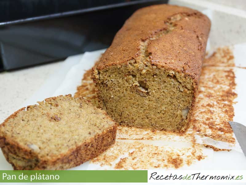 Pan de plátano Thermomix