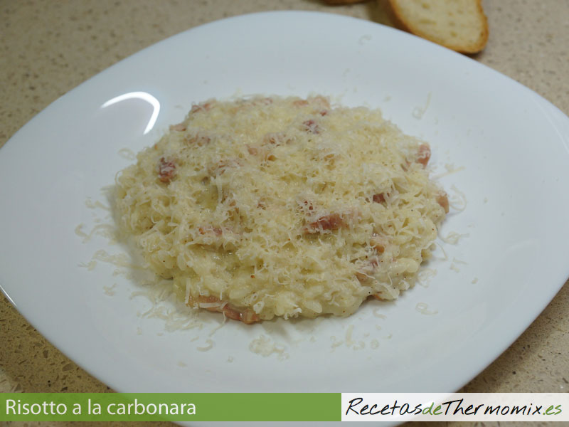 Risotto a la carbonara Thermomix