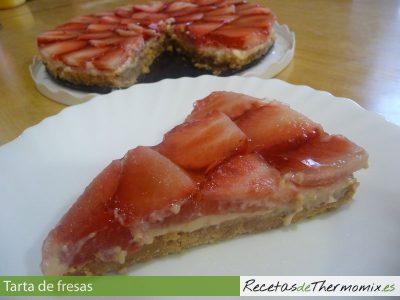 Tarta de fresas de Thermomix