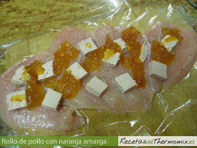 Como hacer rollo de pollo con naranja amarga